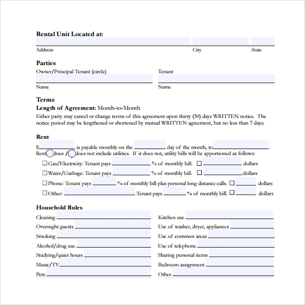 Sample Rental Deposit Form 11 Free Documents In Pdf Word