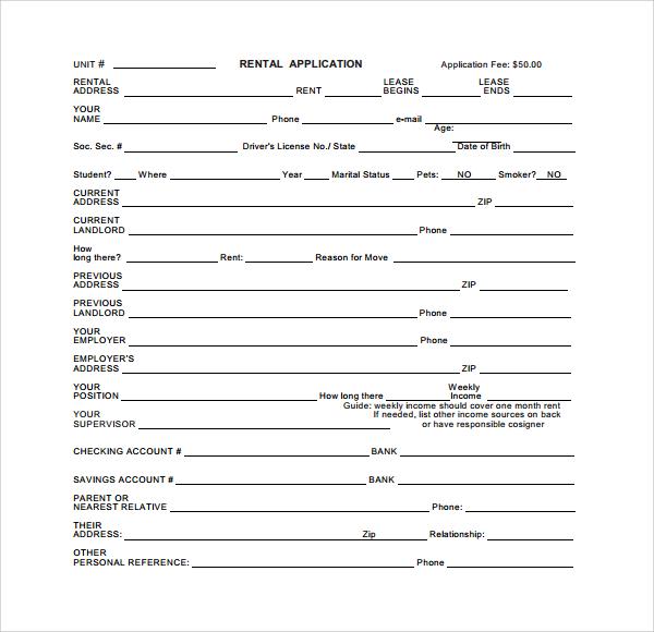 rental deposit form pdf