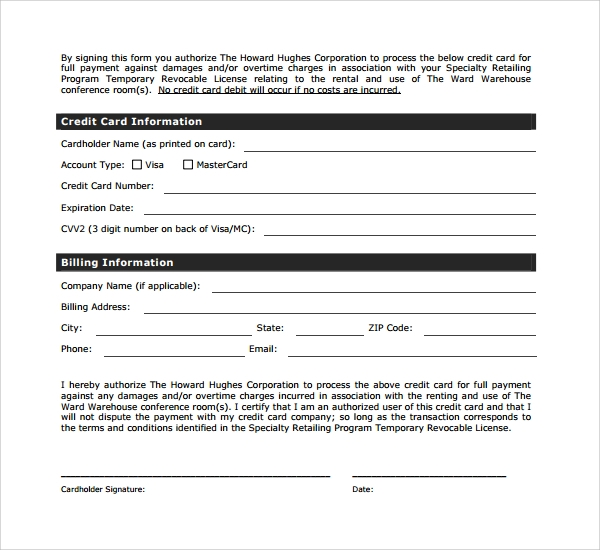 rental deposit form example