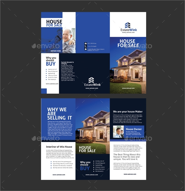 20 sales brochures sample templates for House for sale brochure template