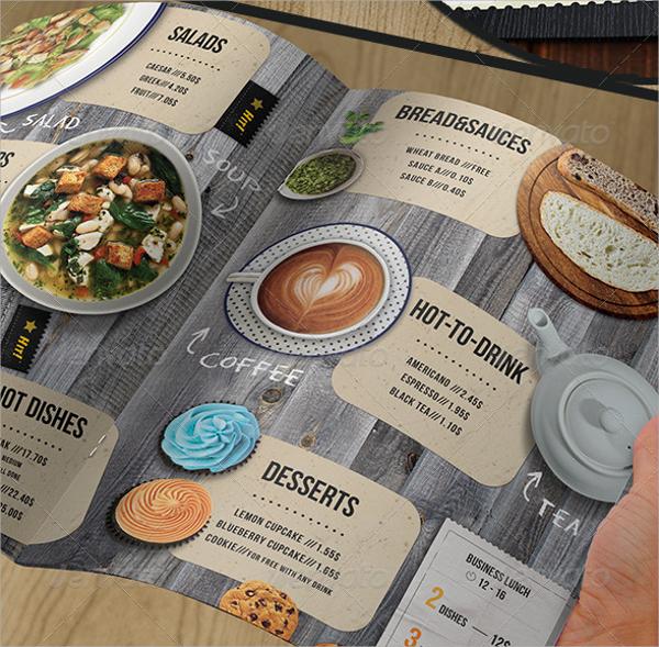 simple lunch menu template