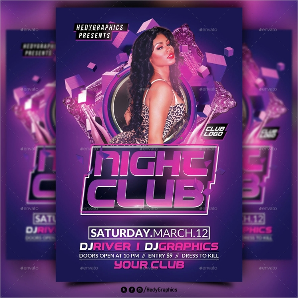 wonderful night club flyer