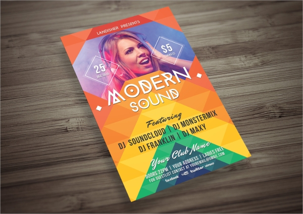 attractive colorful music event flyer psd template