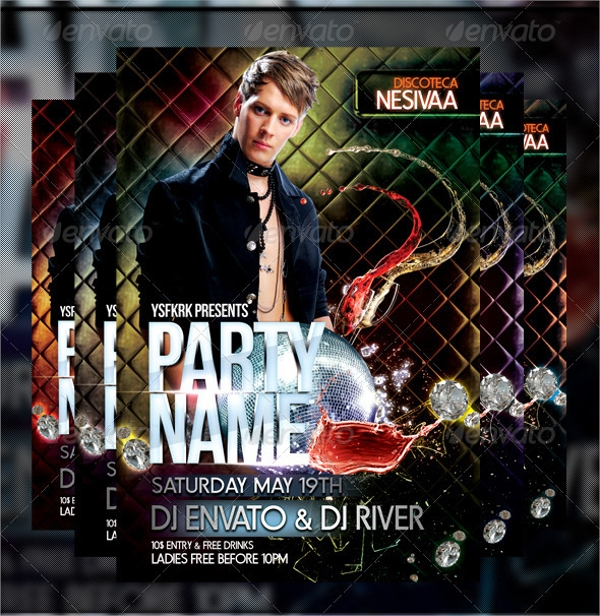 psd format night club flyer