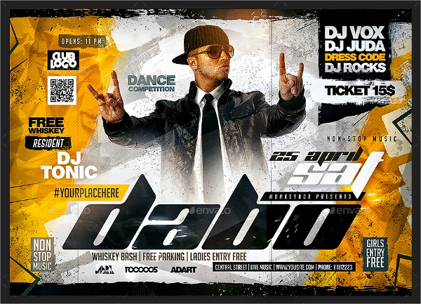 dj event flyer template download