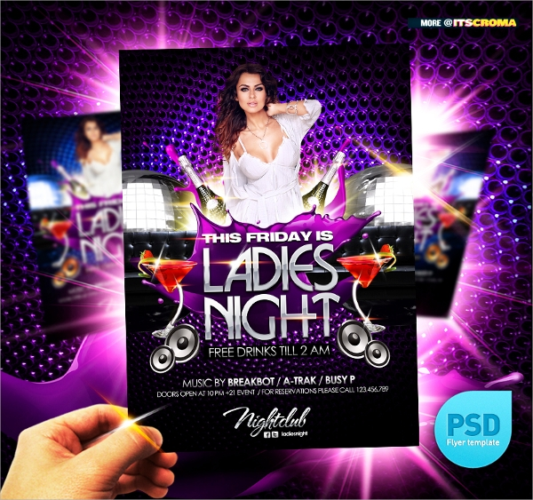 night party club flyer