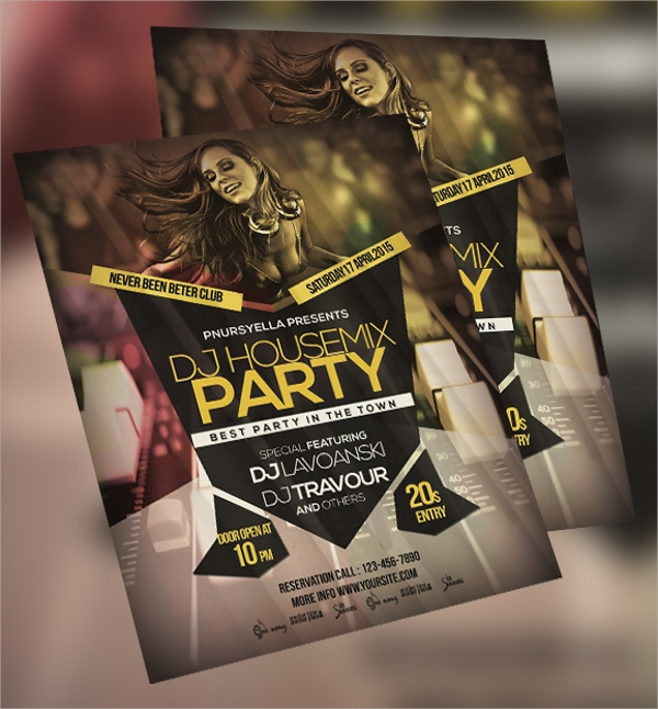 vip night club event flyer template download
