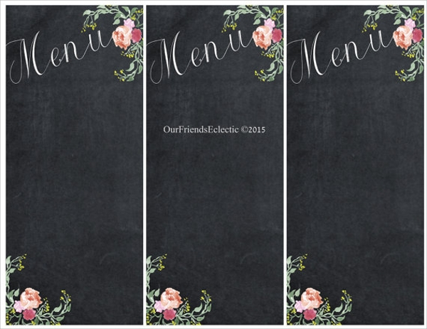 Sample Chalkboard Menu Template - 19+ Download Documents ...