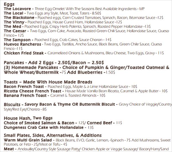 wondrous chalkboard menu template