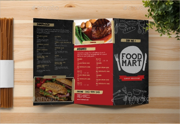 awesome chalkboard menu template