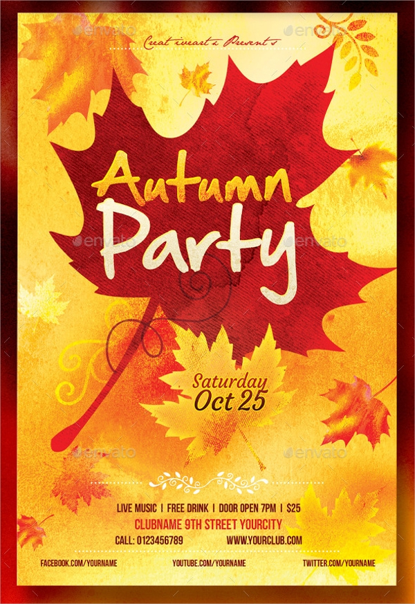 Fall Flyer Fall Flyer Autumn Holiday Event Free Flyer Template