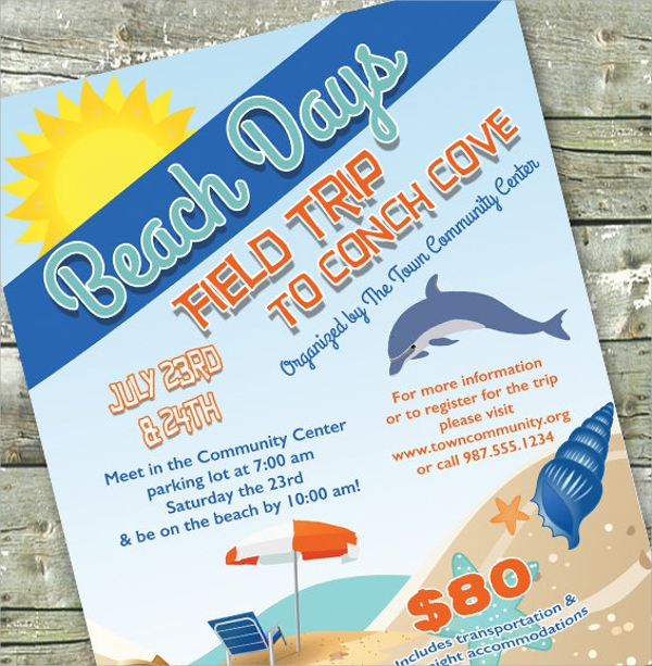 attractive beach party flyer templates download
