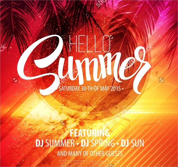 beautiful beach party flyer templates download