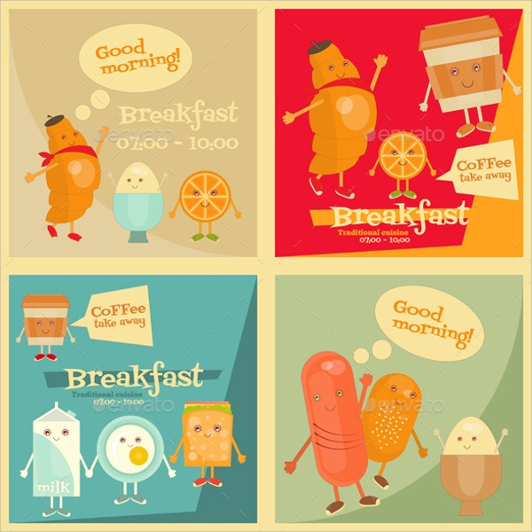 Simple Breakfast Menu Template  Breakfast Menu Template