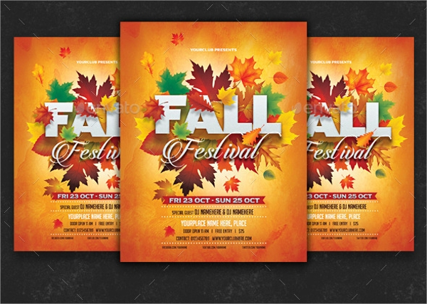 editable fall flyer template