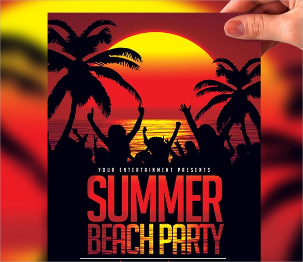 22 Beach Party Flyer Templates Sample Templates