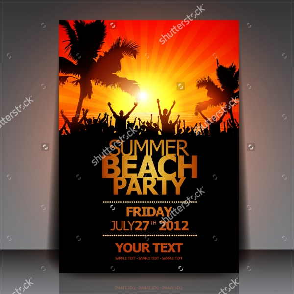 fantastic beach party flyer templates download