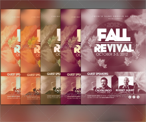 photoshop psd fall flyer template