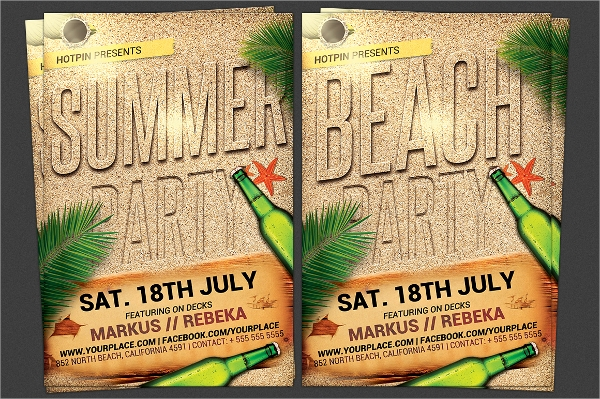 creative beach party flyer templates download