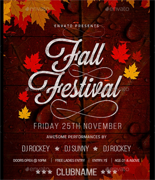 Fall Flyer Template   Download In Vector Eps Psd