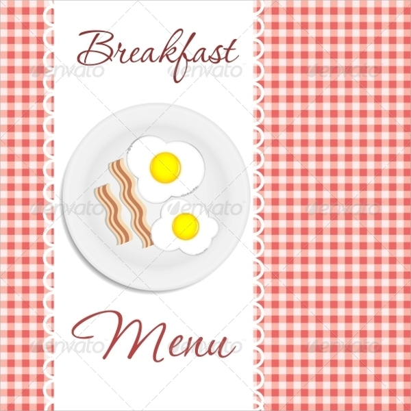 breakfast menu vector illustration template