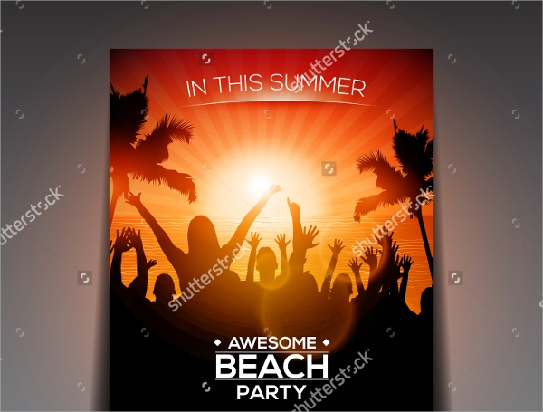 wonderful beach party flyer templates download