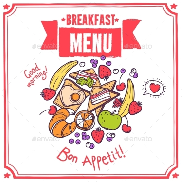 breakfast sketch menu