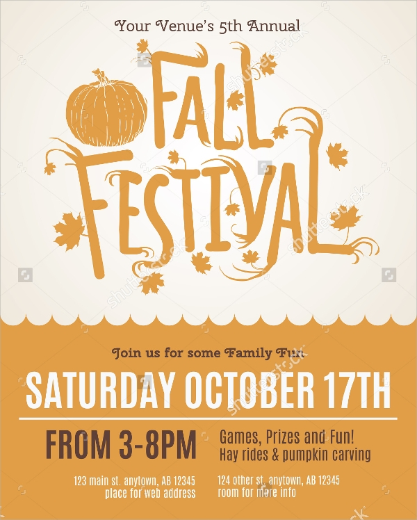 fall flyer invitation template