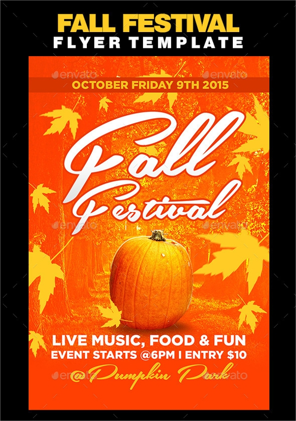 25   fall flyer templates