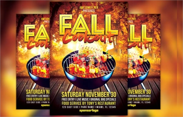 fall cookout flyer