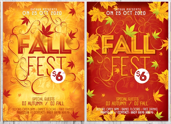 awesome fall flyer template