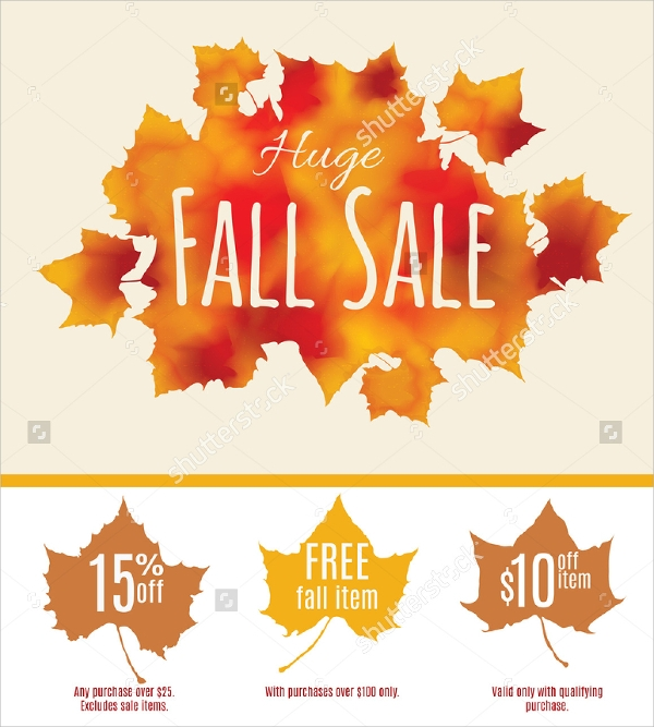 sample fall flyer template