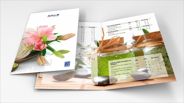 Elegant Attractive Spa Menu