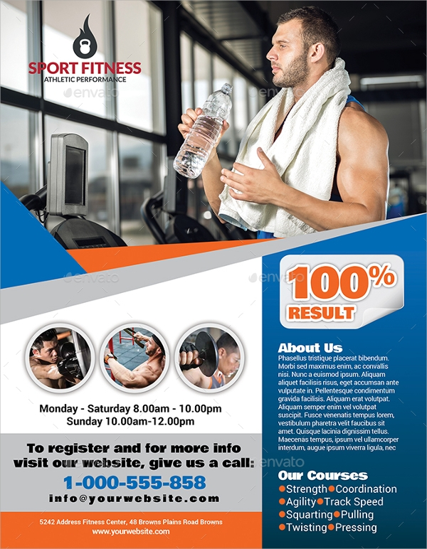 premium fitness flyer template