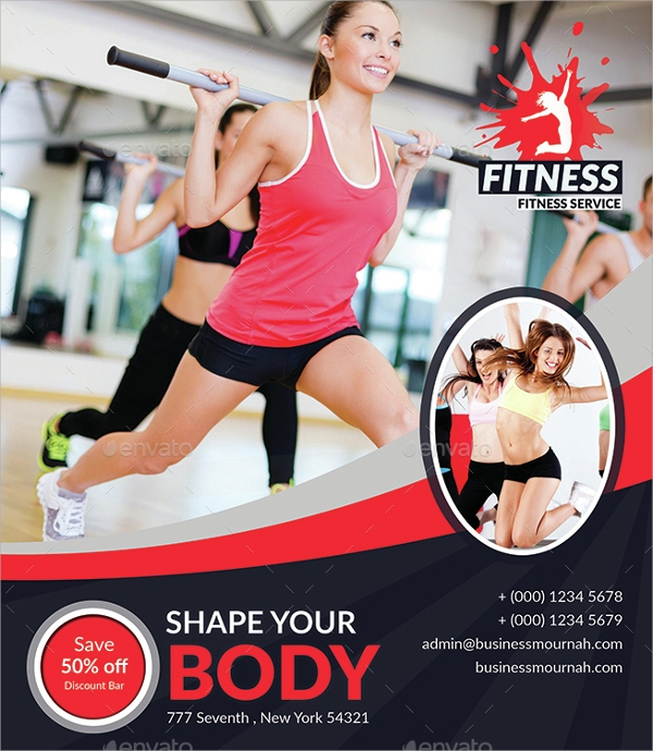 Fitness Flyer   Download In Vector Eps Psd