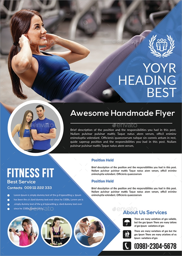 21 fitness flyer templates sample templates. Black Bedroom Furniture Sets. Home Design Ideas