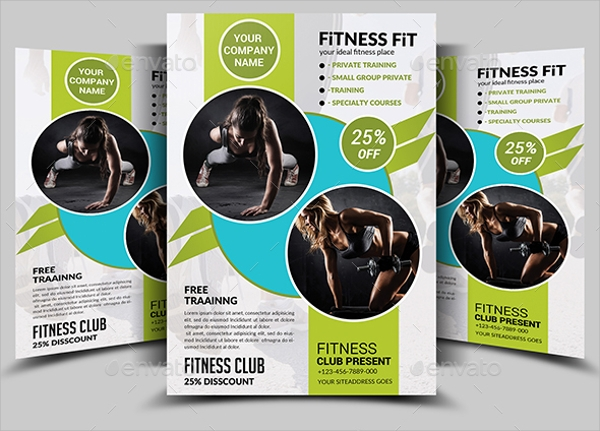 photoshop psd fitness flyer