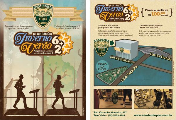 vintage fitness flyer