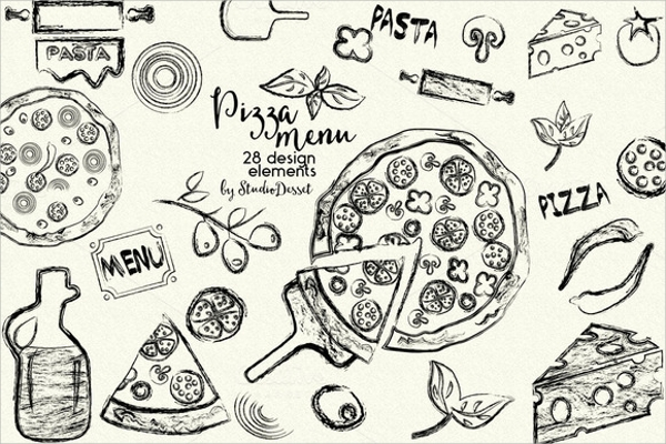 amazing pizza menu template