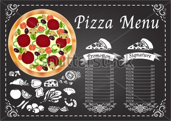 Sample Pizza Menu Template   Download Documents In Psd Vector