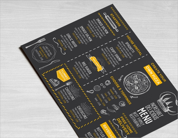 Sample Pizza Menu Template 21 Download Documents in PSD Vector – Sample Pizza Menu Template