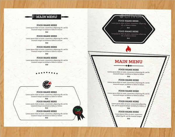 spectacular pizza menu template