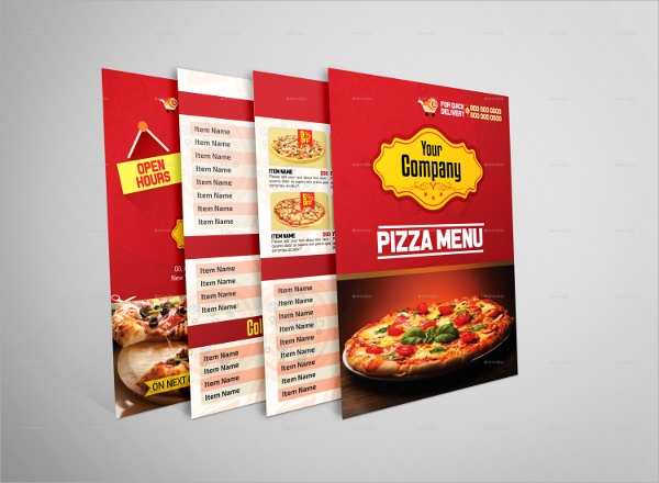 bifold pizza menu template