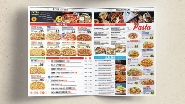 restaurent pizza menu template1