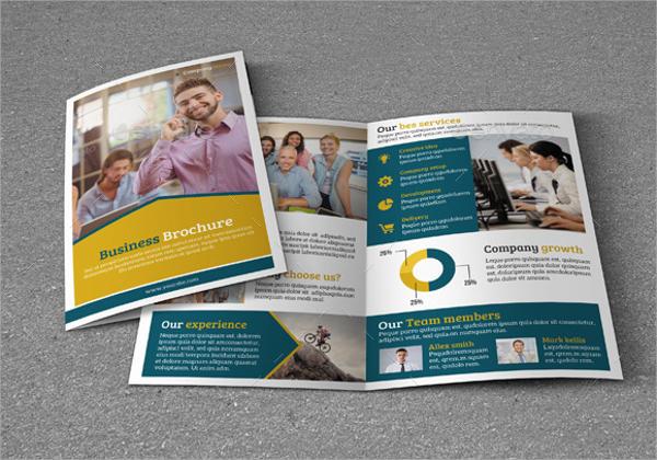 bi fold business brochure photoshop psd format