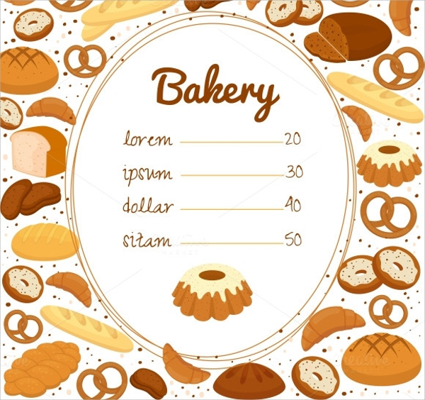 Sample Bakery Menu Template   Download Documents In Pdf Psd Vector