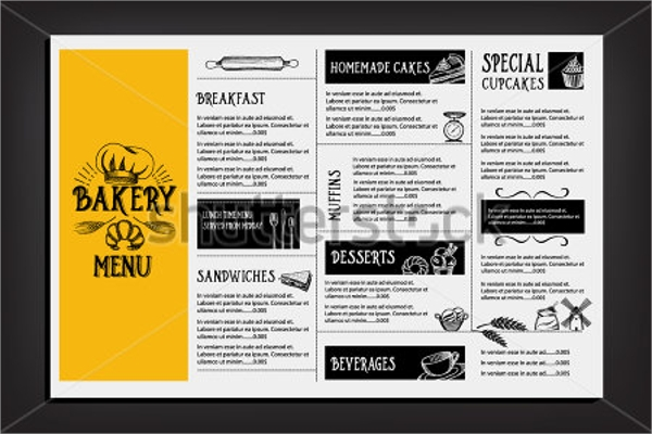 17  sample bakery menu templates