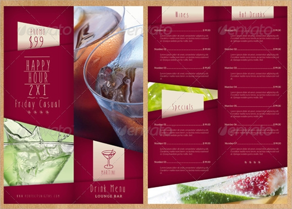 Sample Drink Menu Template   Download Documents In Psd Pdf