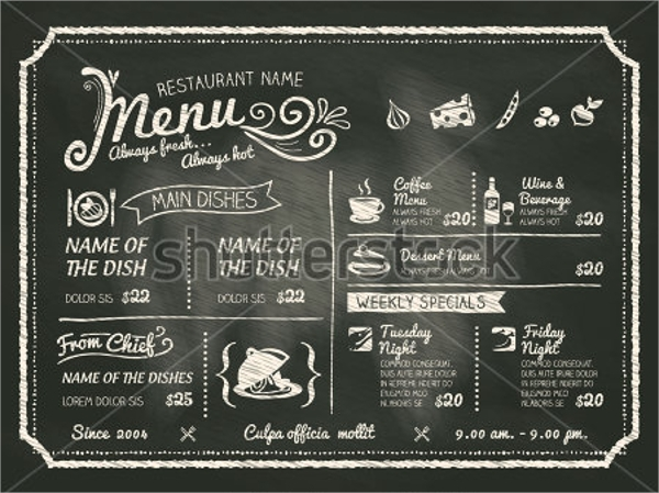Cool Drink Menu Template Images  Example Resume Ideas  AlingariCom