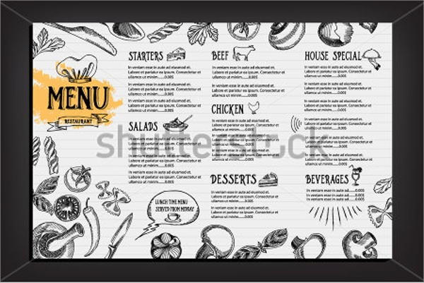 wondrous drink menu template